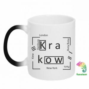 Kubek-kameleon Kraków i inne miasta