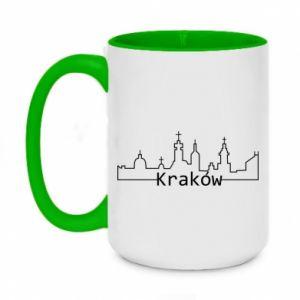 Kubek dwukolorowy 450ml Kraków. Miasto
