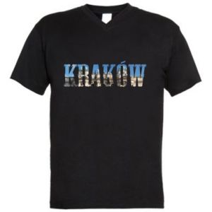Men's V-neck t-shirt Krakow