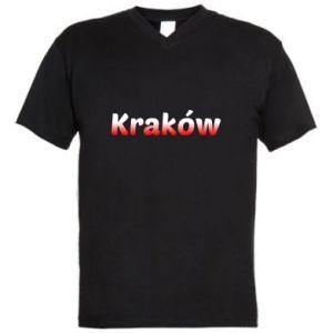 Męska koszulka V-neck Kraków