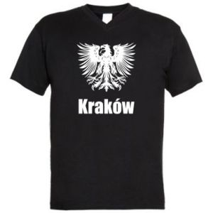 Męska koszulka V-neck Kraków - PrintSalon