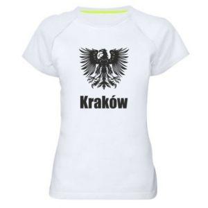 Damska koszulka sportowa Kraków - PrintSalon