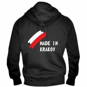 Męska bluza z kapturem na zamek Made in Krakow - PrintSalon