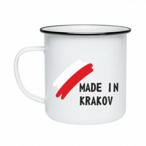 Enameled mug Made in Krakow