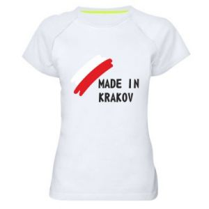 Women's sports t-shirt Made in Krakow