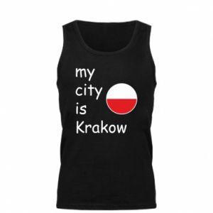 Męska koszulka My city is Krakow - PrintSalon