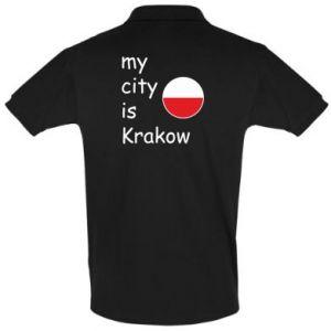 Koszulka Polo My city is Krakow
