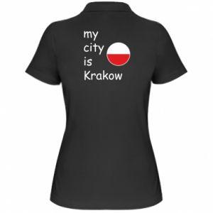 Damska koszulka polo My city is Krakow
