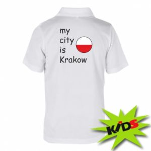 Dziecięca koszulka polo My city is Krakow