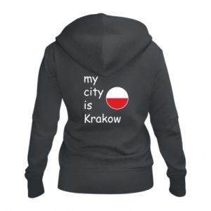 Damska bluza na zamek My city is Krakow - PrintSalon