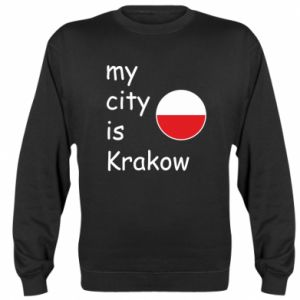 Bluza (raglan) My city is Krakow