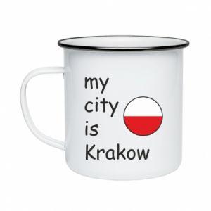 Kubek emaliowane My city is Krakow
