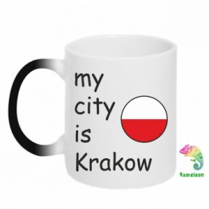 Kubek-kameleon My city is Krakow