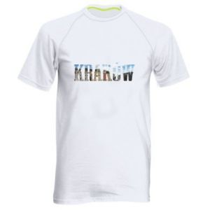 Męska koszulka sportowa Kraków - PrintSalon
