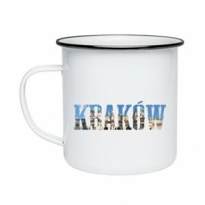 Kubek emaliowany Kraków