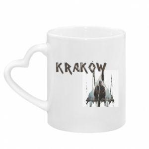 Kubek z uchwytem w kształcie serca Kraków