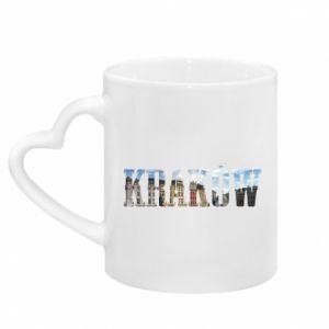 Mug with heart shaped handle Krakow