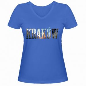 Women's V-neck t-shirt Krakow