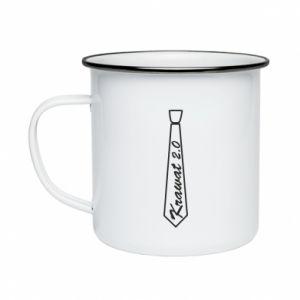 Enameled mug Krawat 2.0