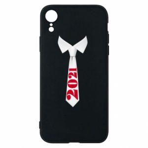 Etui na iPhone XR Krawat Sylwestrowy
