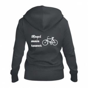 Damska bluza na zamek Kręci mnie rower!
