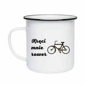 Kubek emaliowane Kręci mnie rower!