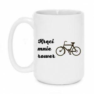Kubek 450ml Kręci mnie rower!