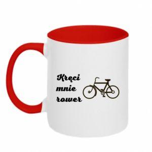 Kubek dwukolorowy Kręci mnie rower!