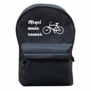 Plecak z przednią kieszenią Kręci mnie rower!