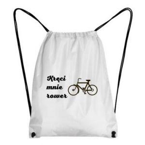 Plecak-worek Kręci mnie rower!