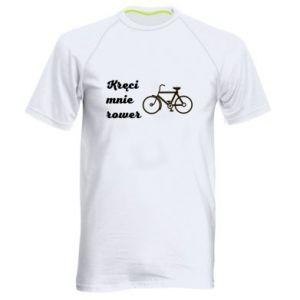 Męska koszulka sportowa Kręci mnie rower!