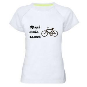 Damska koszulka sportowa Kręci mnie rower!