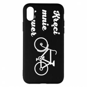 Etui na iPhone X/Xs Kręci mnie rower!
