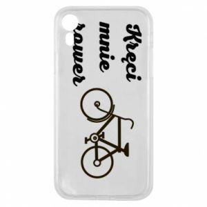 Etui na iPhone XR Kręci mnie rower!