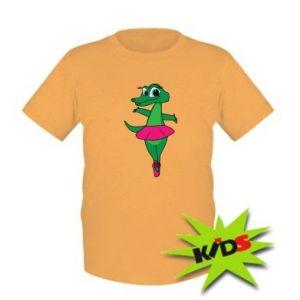 Kids T-shirt Crocodile-ballerina
