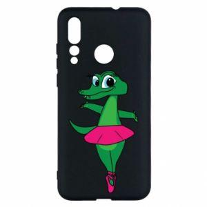 Etui na Huawei Nova 4 Krokodyl-balerina