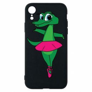 Etui na iPhone XR Krokodyl-balerina