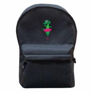 Plecak z przednią kieszenią Krokodyl-balerina