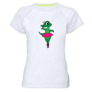 Koszulka sportowa damska Krokodyl-balerina