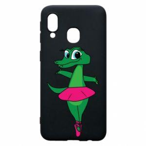 Etui na Samsung A40 Krokodyl-balerina