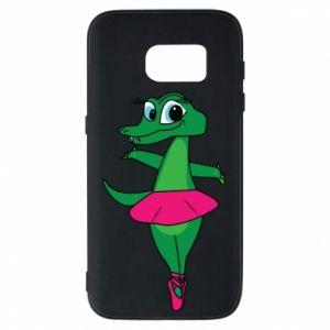 Etui na Samsung S7 Krokodyl-balerina