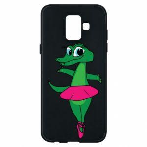 Etui na Samsung A6 2018 Krokodyl-balerina