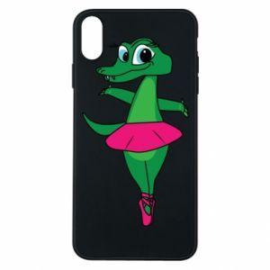 Etui na iPhone Xs Max Krokodyl-balerina
