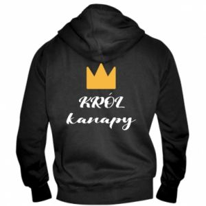 Men's zip up hoodie King of the couch - PrintSalon