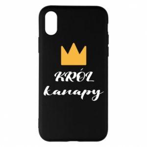 Etui na iPhone X/Xs Król kanapy