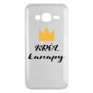 Phone case for Samsung J3 2016 King of the couch - PrintSalon