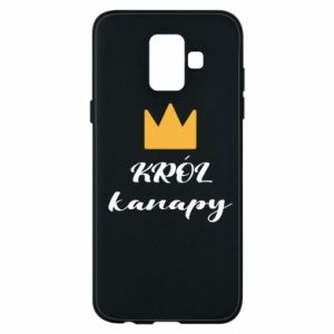 Phone case for Samsung A6 2018 King of the couch - PrintSalon