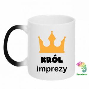 Chameleon mugs Party king - PrintSalon