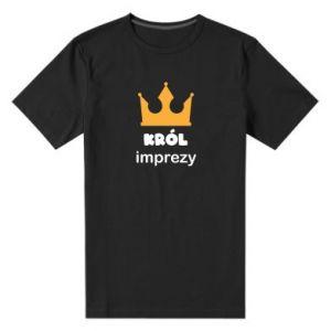Męska premium koszulka Król imprezy