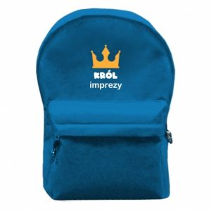 Backpack with front pocket Party king - PrintSalon